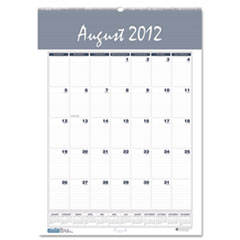 Bar Harbor Wirebound Academic Monthly Wall Calendar, 15-1/2 x 22, 2014-2015