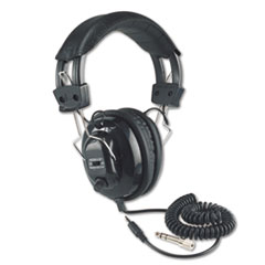 Deluxe Stereo Headphones w/Mono Volume Control, Black