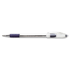 R.S.V.P. Stick Ballpoint Pen, .7mm, Trans Barrel, Blue Ink, Dozen