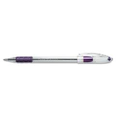 R.S.V.P. Stick Ballpoint Pen, .7mm, Trans Barrel, Violet Ink, Dozen