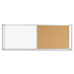 Combo Cubicle Workstation Dry Erase/Cork Board, 48x18, Silver Frame