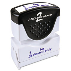 COU ** Accustamp2 Shutter Stamp with Microban, Blue, FOR DEPOSIT ONLY, 1 5/8 at Sears.com