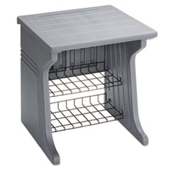 Aspira Printer Stand, Two-Shelf, Resin, 28w x 28d x 30h, Charcoal