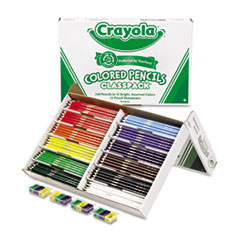 Colored Woodcase Pencil Classpack, 3.3 mm, 12 Assorted Colors/Box