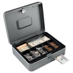 Security Box w/Media Slot, Cam Key Lock, Charcoal