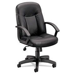 basyx® Mid-Back Leather Chair