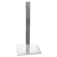 Hospitality Table Square Pedestal Base, 19-3/4 x 19-3/4 x 41, Stainless Steel MLNCA411S