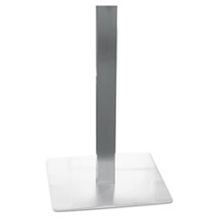 Hospitality Table Steel Square Tube Pedestal Base, 19-3/4 x 19-3/4 x 28, Silver MLNCA281S