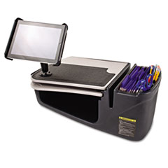 GripMaster 03 Auto Desk with iPad Tablet Mount, Supply Organizer, Gray