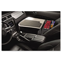 GripMaster 02 Efficiency Auto Desk w/ Writing Surface & Supply Organizer, Gray
