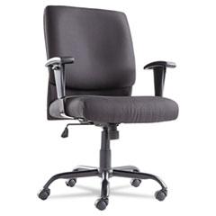 Big & Tall Mid-Back Swivel/Tilt Chair, Fabric, Black OIFBT4510