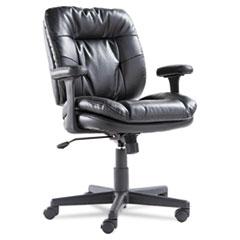 Swivel/Tilt Leather Task Chair, Black OIFST4819