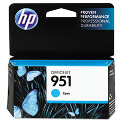 HP 951, (CN050AN) Cyan Original Ink Cartridge