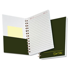 Gold Fibre Personal Notebook, College/Medium, 5 x 7, Classic Green, 100 Sheets TOP20801