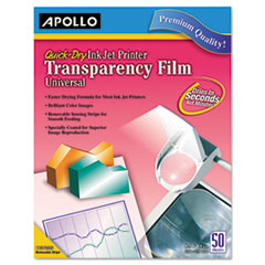 INKJET PRINTER TRANSPARENCY FILM, CLEAR, 50/BOX