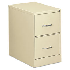 Two-Drawer Economy Vertical File, Legal, 18 1/4w x 26 1/2d x 29h, Putty