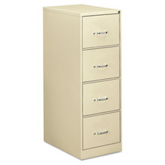 Four-Drawer Economy Vertical File, Legal, 18 1/4w x 26 1/2d x 52h, Putty