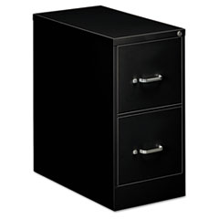 Two-Drawer Economy Vertical File, Letter, 15w x 26 1/2d x 29h, Black
