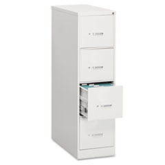 Four-Drawer Economy Vertical File, Legal, 18 1/4w x 26 1/2d x 52h, Light Gray