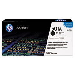 HP 501A, (Q6470A) Black Original LaserJet Toner Cartridge