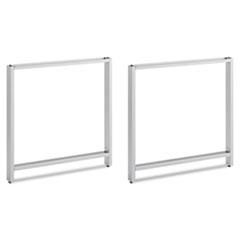 Leg Kit-Freestanding Rectangular Desk Momentum: Silver BSH342OLEGSV03