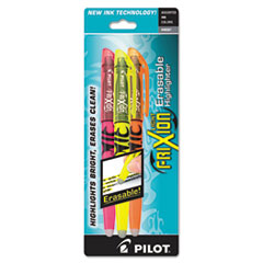 Frixion Lite Erasable Highlighter, Assorted Ink, Chisel, 3/Pack