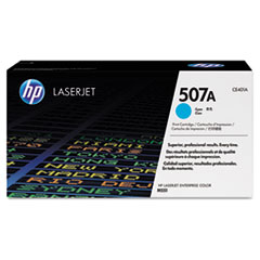 HP 507A, (CE401A) Cyan Original LaserJet Toner Cartridge