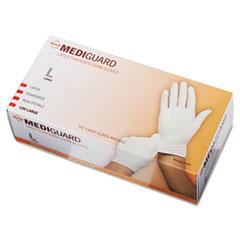 MediGuard Powdered Latex Exam Gloves, Large, 100/Box
