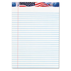 American Pride Writing Pad, Lgl Rule, 8-1/2 x 11-3/4, White, 50-Sheet 12/Pack