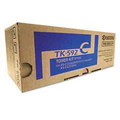 TK592C Toner, 5,000 Page-Yield, Cyan