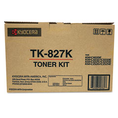 TK827K Toner, 15,000 Page-Yield, Black