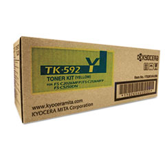 TK592Y Toner, 7,000 Page-Yield, Yellow