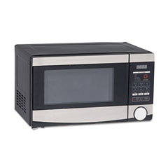 .7 Cu. Ft. Capacity Microwave Oven, 700 Watts, Stainless Steel and Black