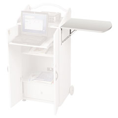 Side Shelf, For Use With ROLZ Mobile Conference Center, 20w x 16d, Gray