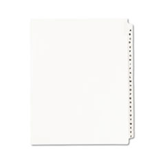 Avery-Style Legal Exhibit Side Tab Divider, Title: A-Z, Letter, White