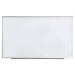 Dry Erase Board, Melamine, 60 x 36, Satin-Finished Aluminum Frame