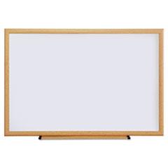 Dry Erase Board, Melamine, 36 x 24, Oak Frame