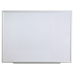 Dry Erase Board, Melamine, 48 x 36, Aluminum Frame