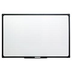 Dry Erase Board, Melamine, 36 x 24, Black Frame