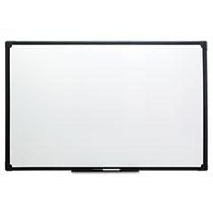 Dry Erase Board, Melamine, 48 x 36, Black Frame