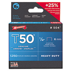 "T50 Heavy Duty Staples, 3/8"""