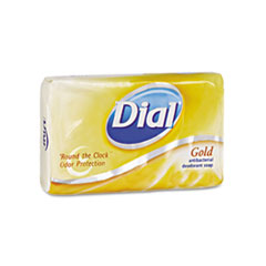 MotivationUSA * Antibacterial Deodorant Bar Soap, Individually Wrapped, Gold, 4 oz.