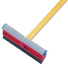 General-Duty Squeegee, 8   Sponge/Rubber Blade, Black/Red, 21   Metal Ha