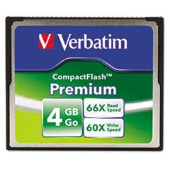 Premium CompactFlash Memory Card, 4GB, 66X Read Speed/60X Write Speed