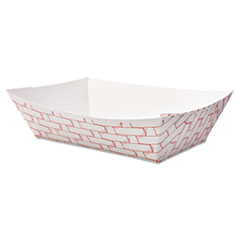 BOARDWALK 2LB PAPER FOOD  BASKET RED/WHITE 1000CT
