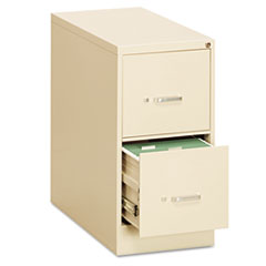 Two-Drawer Economy Vertical File, Letter, 15w x 26 1/2d x 29h, Putty