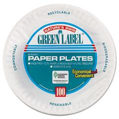 """AJM 9"""" WHITE PAPER PLATE 100PK"""