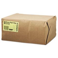 #12 Paper Grocery Bag, 40lb Kraft, Standard 7 1/16 x 4 1/2 x 13 3/4, 500 bags