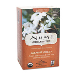 ORGANIC TEAS AND TEASANS, 1.27 OZ, JASMINE GREEN, 18/BOX