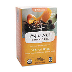 ORGANIC TEAS AND TEASANS, 1.58 OZ, WHITE ORANGE SPICE,